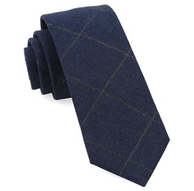 Navy Admix Plaid ties