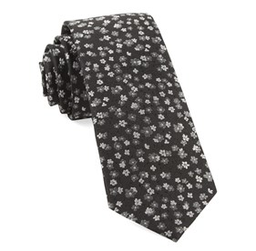 Black Free Fall Floral ties