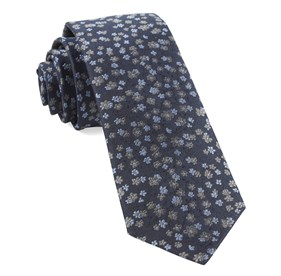 Navy Free Fall Floral ties