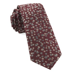 free fall floral burgundy ties
