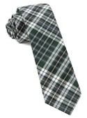 Ties - Eclipse Plaid - Hunter Green