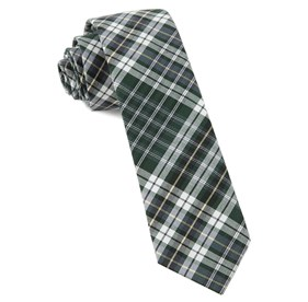 Hunter Green Eclipse Plaid ties