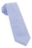 Ties - Long Line Stripe - Light Blue