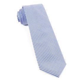 Light Blue Long Line Stripe ties