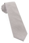 Ties - Long Line Stripe - Grey
