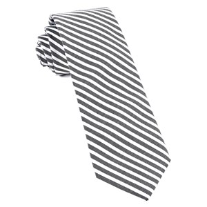 southern cotton stripe charcoal ties
