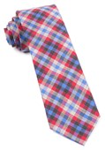 Ties - Steel Checks - Apple Red