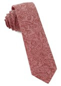 Ties - Floral Trace - Washed Red
