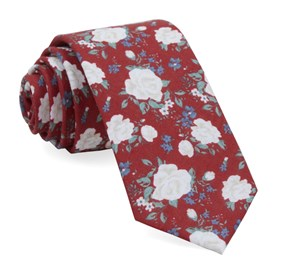 Red Hodgkiss Flowers ties