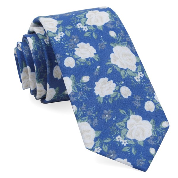 Royal Blue Hodgkiss Flowers Tie