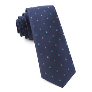 evergreen navy ties
