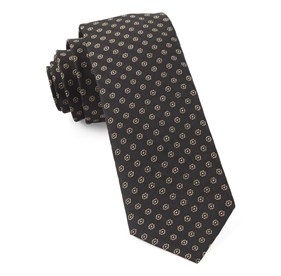 Classic Black Eagle Eye Medallion ties
