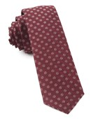 Ties - Eagle Eye Medallion - Burgundy