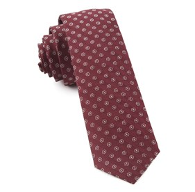 Eagle Eye Medallion Burgundy Ties
