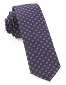 Ties - Eagle Eye Medallion - Eggplant