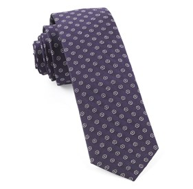 Eggplant Eagle Eye Medallion ties