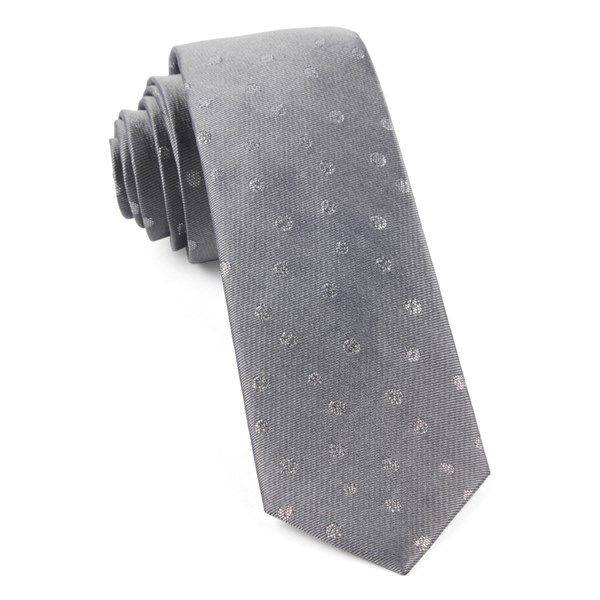 Grey Circle Soiree Tie
