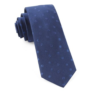 Circle Soiree Navy Tie