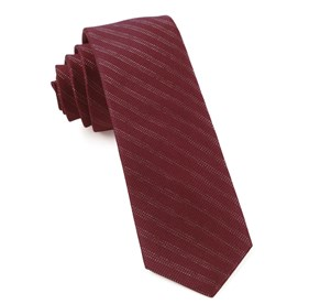Studded Stripe Burgundy Ties