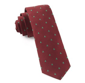 Red Evergreen ties