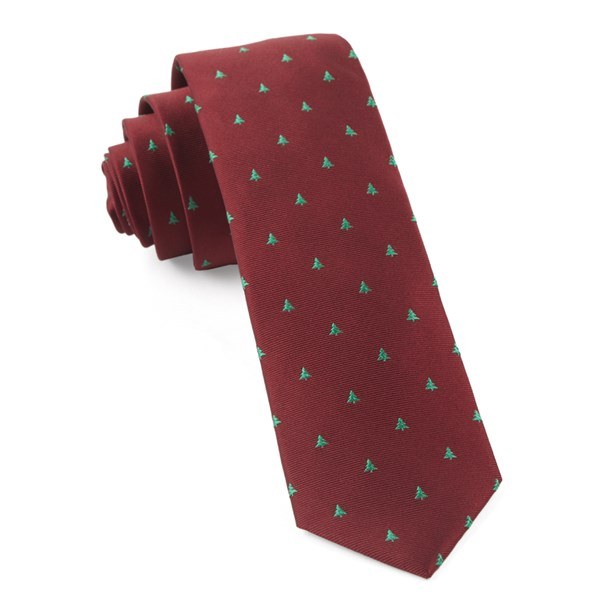 Red Evergreen Tie