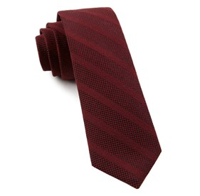 Red Textured Wool Stripe ties