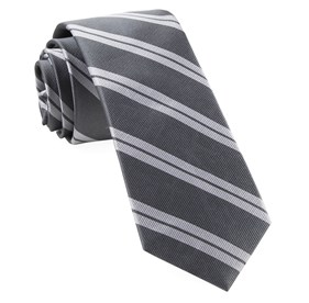 Grey Center Field Stripe ties