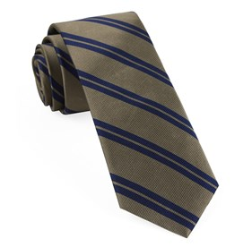 Champagne Center Field Stripe ties