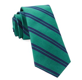 Kelly Green Center Field Stripe ties