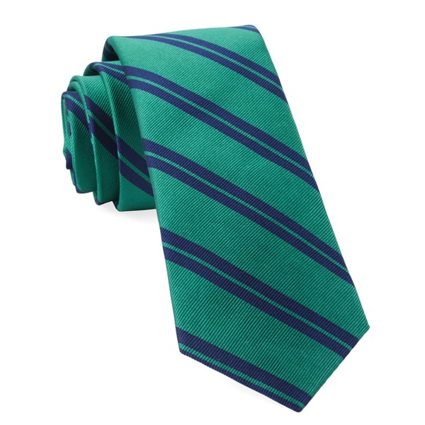 Kelly Green Center Field Stripe Tie