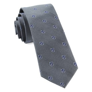 first string crest grey ties