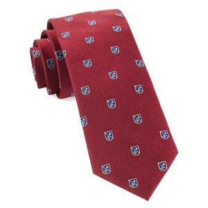 first string crest red ties