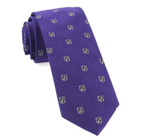 Plum First String Crest ties