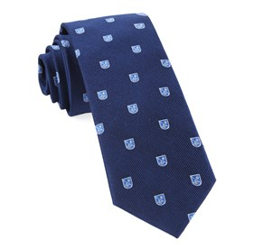 First String Crest Navy Ties
