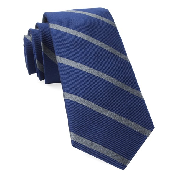 Navy Wheelhouse Stripe Tie