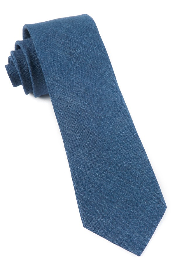 Freehand Solid Navy Tie