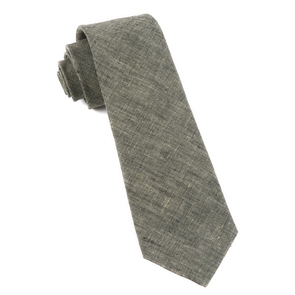 Taupe Freehand Solid Tie
