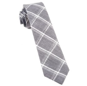 Grey Jet Plaid ties