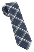 Ties - Jet Plaid - Navy