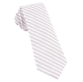 Light Champagne Saddled Stripe ties