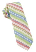 Ties - Stripe Course - Apple Green