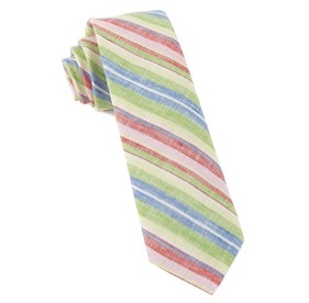 Stripe Course Apple Green Ties