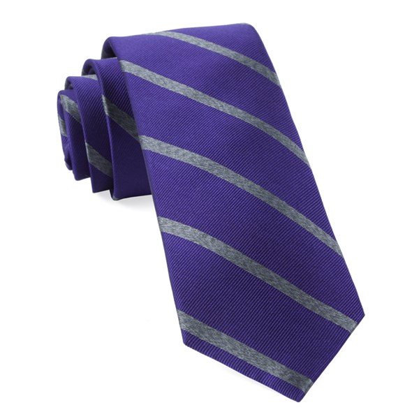 Plum Wheelhouse Stripe Tie