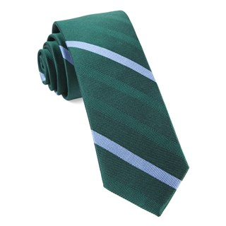 goal line stripe hunter green ties