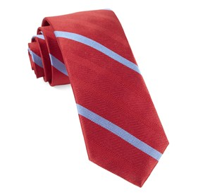 Apple Red Goal Line Stripe ties
