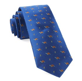 Royal Blue Turtle Island ties