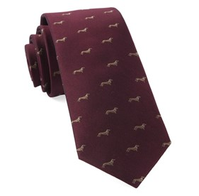 Burgundy Dog Days ties