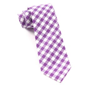 Plum Cotton Table Plaid ties