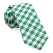Ties - Cotton Table Plaid - Kelly Green