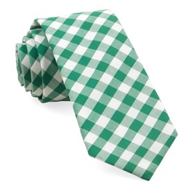 Cotton Table Plaid Kelly Green Ties
